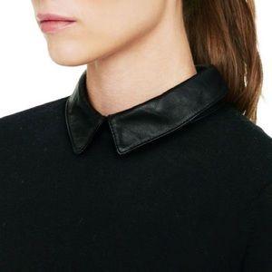 Club Monaco Riley Leather Collar Sweater